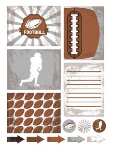 More Freebies !! Football Project Life Printables ! (Grunge)