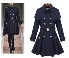 """Trendy Series"" European Style Long Wool Trench Coat"