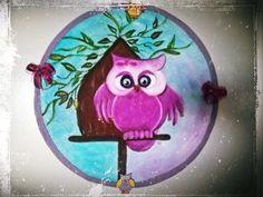 Quadrinho coruja com disco de vinil!!!!