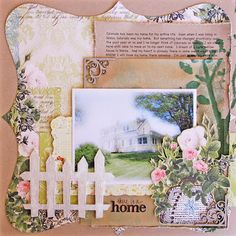 There is a home scrapbook page layout