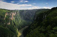 Este cañón es producto de una separación de capas terrestres producto de una falla geológica durante el pleistoceno. Por sus dimensiones y vegetación tropical exuberante, este cañón es un importante atractivo turístico de Chiapas. Foto: kalot.com.mx