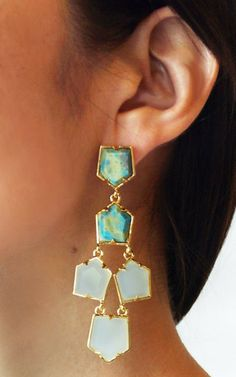 Lele Sadoughi Prism Chandelier Earrings On
