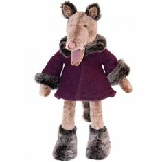 Meet Charles the Wolf! Villain of so many fairytales. Rest assured in our fairytale he is nothing but a sweet wolf looking to have a small cuddle with a little boy or girl. Charles has extremely soft silky fur, a lovely tail and paws and a soft plum col Doll Toys, Dolls, Big Bad Wolf, Toy 2, Childhood Toys, Le Moulin, Baby Toys, Little Boys, Cuddling