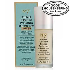 Boots No7 Protect & Perfect Intense Beauty Serum 1 fl oz (30 ml) by Boots No7. $36.99. Anti Aging is getting Intense... No7 Protect & Perfect Intense Beauty Serum has been tested like no other cosmetic anti aging product in an independent 12 month trial. The findings clearly show that it has genuine, long term anti aging benefits. 70% of the volunteers using the product showed a marked improvement in the appearance of photo-aged skin after 12 months of use. This pr...