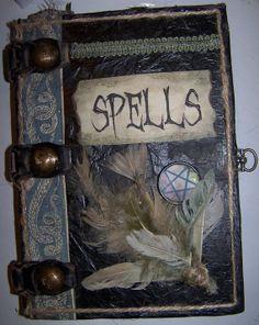 Hand crafted Halloween spellbook by corneroftheattic on Etsy, $15.00