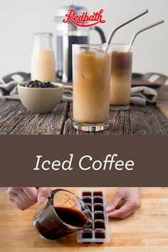 Sweetened Iced Coffee with Frozen Coffee Cubes Coffee Latte, Iced Coffee, Coffee Drinks, Hot Coffee, Coffee Time, Coffee Shop, Fancy Drinks, Summer Drinks, Cold Drinks