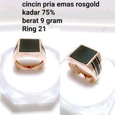 Beli cincin pria emas rosgold kadar 75 black eye dari toko emas jfaf tokoemasjfaf - Jakarta Utara hanya di Bukalapak Jakarta, Black, Black People