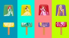 Sorvetes Trocados Aprendendo CORES com Princesa Elsa, Branca de Neve, Ba...