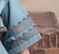 How cute would this be on some white summer pants Kurti Sleeves Design, Kurta Neck Design, Sleeves Designs For Dresses, Dress Neck Designs, Stylish Dress Designs, Blouse Designs, Sleeve Designs, Salwar Designs, Kurta Designs Women