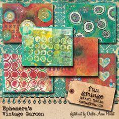 Fun Grunge -  Digital Paper Pack