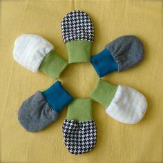 Dit is een leuk DIY projectje: babywantjes! Een leuk cadeautje wanneer je op kraambezoek gaat of gewoon voor je eigen kindje met schattige stofjes van bij Bambiblauw