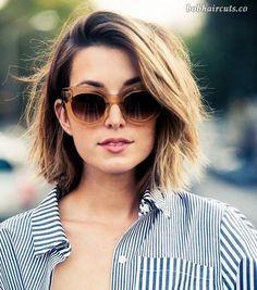 45 Medium and Short Hairstyles for Thin Hair - 32 #ShortBobs