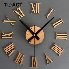 Cheap diy wall clock Buy Quality diy wall clock directly from China wall clock Suppliers: Metallic DIY Wall Clock Roman Stickers Home Decoration Watch Modern Clock