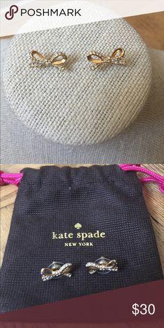Kate Spade Gold Bow Earrings Kate Spade Gold Bow with Rhinestones Earrings kate spade Jewelry Earrings