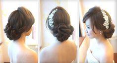 taiwan bridal hair updo, low bun, bridal hairstyle