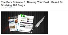 In depth analysis on which blog post titles do the best.