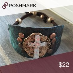 Cross western cowgirl bracelet So cute is this adjustable cowgirl bracelet wider style boutique Boutique Jewelry Bracelets