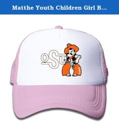 Matthe Youth Children Girl Boy Kids Cartoon Printed Pattern Oklahoma State University OSU Cowboys Logo Unisex Half Mesh Adjustable Baseball Cap Hat Snapback Pink. The Cap Is Poly Foam Trucker Hat With Screen Print At Front Panel,you Can Find Sun Hats That Blocks Sun Rays From Your Face,ears,neck.You Can Browse Our Selection Of Other Options For Everything From Fishing,hiking,and Skiing To Running And Golf.