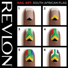 Today I'm here with 16 fascinating step by step nail tutorials you must see. You should always complete your outfit with a stunning nail art design, so I'm Nail Designs 2014, Flower Nail Designs, Nail Polish Designs, Cute Nail Designs, Sexy Nail Art, Sexy Nails, Cute Nail Art, Hot Nails, South African Flag