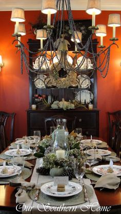 Thanksgiving Tablescape from @Christy Polek @ Our Southern Home