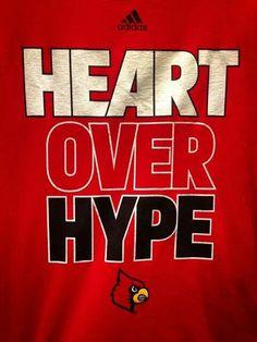 Heart over hype Cardinals Football, Louisville Cardinals, Basketball Coach, Football And Basketball, Pat Summitt, University Of Louisville, Softball Mom, Sports Mom, I Card