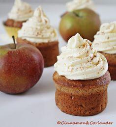 Apple Strudel Cupcakes with Apple Cinnamon Buttercream (German Buttercream)