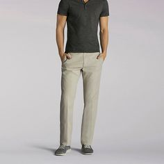 Lee Men's Extreme Comfort Refined Pants - Big & Tall (Size 46 x 32)