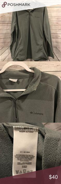 Columbia Fleece pullover 3/4 zip Columbia fleece 3/4 pullover! Gently used condition, size XL. *D147 Columbia Sweaters Zip Up