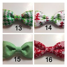Christmas Holiday Winter Bow Tie Dog Collar by DapperDogDesigns