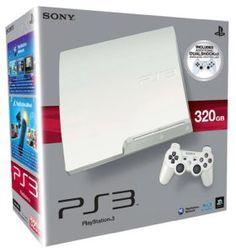 console ps3 320 go blanc 2 manettes ps3 dual shock 3 blanc - Manette Ps3 Color