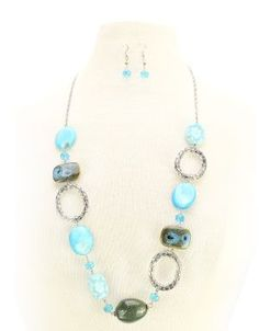 I like the loops.  Shop ModDeals.com for discounted Multi Stone Ring Necklace & Earring Set. Find cheap women's Necklaces in our online fashion clothes & accessories store.
