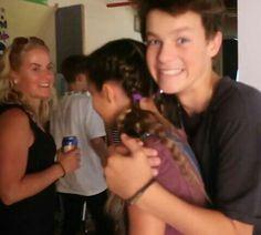 Hayden hugging Annie