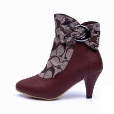 Coach Bowknot Monogram Brown Booties CQD Give You The Best feeling!