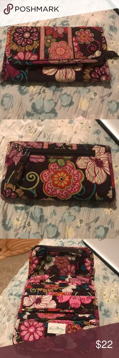 Vera Bradley retired print floral wallet Good used condition, inside is like new. Most of the wear is on the edges as pictured. This print is retired. Authentic Vera Bradley Bags Wallets