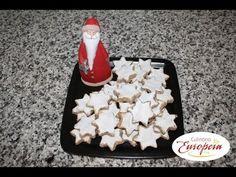 """▶ Culinária Europeia: Receita """"Estrelas de canela (Zimtsterne)"""" - YouTube"""
