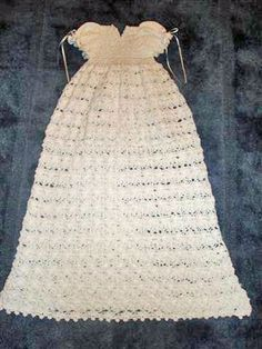 2-3 month christening gowns crochet free patterns | christening dress christening dress print instructions tweet
