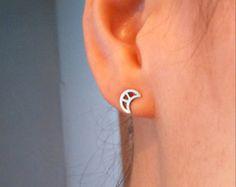 Silver Handmade Azteca Earrings por AfaJewelry en Etsy