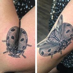 Lady Bug Tattoo, S Tattoo, Body Art Tattoos, Trendy Tattoos, Tattoos For Women, Cool Tattoos, Medusa Tattoo Design, Tattoo Designs, Tradional Tattoo