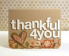 Easy thank you card! You could change the colors to fit any theme!