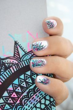 Having short nails is extremely practical. The problem is so many nail art and manicure designs that you'll find online Cute Nail Art, Cute Nails, Pretty Nails, Beautiful Nail Designs, Cute Nail Designs, Fancy Nails, Diy Nails, Nagellack Design, Manicure E Pedicure