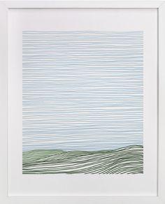 Stripe Landscape: Green Hills by Jorey Hurley at minted.com