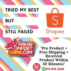 Pro product + free shipping + received product within 30 make Shopee Malaysia, Fails, I Am Awesome, China, Free Shipping, Make Mistakes, Porcelain