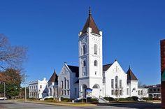 St Paul's Methodist Church in Orangeburg, South Carolina