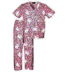 Childrens Hello Kitty Cheetah Scrub Set - Infinity Scrubs of AR Kids Scrubs, Buy Scrubs, Cherokee Uniforms, Cherokee Scrubs, Doctor Halloween Costume, Medical Uniforms, Nursing Uniforms, Medical Scrubs, Nursing Scrubs