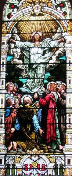 Saint Adalbert Cleveland, OH. Mayer window from Munich. Stained Glass Windows, Munich, Cleveland, Catholic, Cross Stitch, Painting, Art, Pintura, Needlepoint