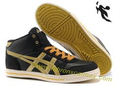 2013 Asics High Skateboard Shoes Black Golden