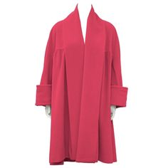 1980's Chanel Hot Pink Cashmere Swing Coat