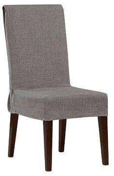Mason Short Dining Room Chair Slipcover Gray