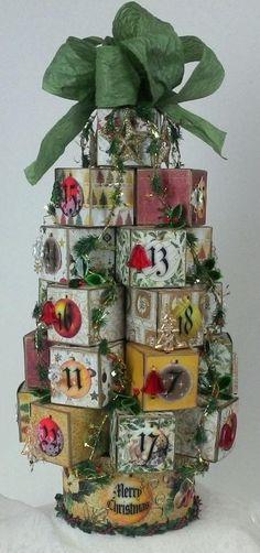 Artfully Musing: Christmas Tree Advent Calendar Tutorial