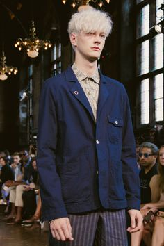 Benjamin Jarvis walking the Billy Reid S/S15 RTW runway. #malemodel #runway #menswear